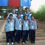 2008 Ramazan Savaş İ.Ö.O. Spor Kulübü Genç Yetenekler, Ufuk Sezen Arat ve Melih Yurtseven, Antrenörleri Abidin Ünal ile birlikte.