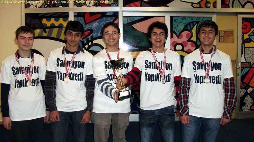 2012 Yapı Kredi Spor Kulübü Antalya Yıldızlar Ligi Şampiyonu!!