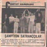 19. Altın Portakal 2. Satranç Turnuvası Ödül Töreni 09.10.1982