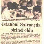 19. Altın Portakal 2. Satranç Turnuvası 02 - 09 Ekim 1982