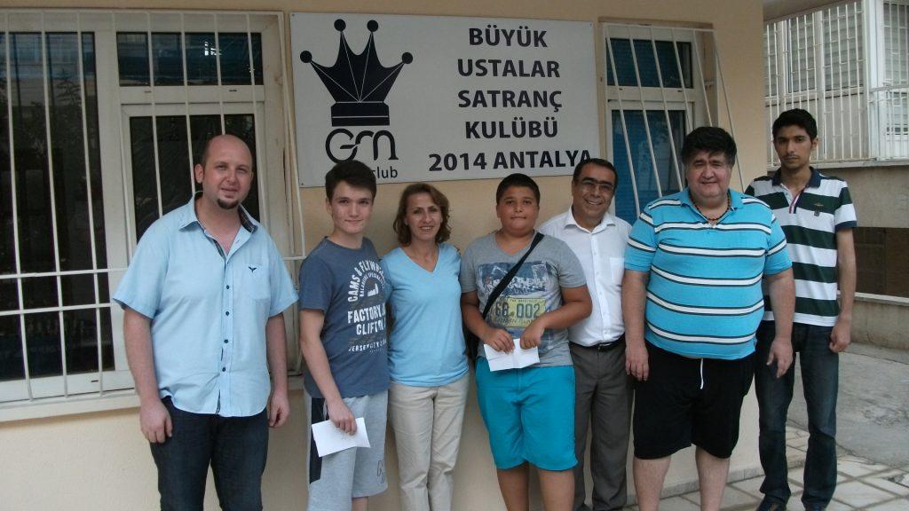 Antalya Büyük Ustalar Satranç Kulübü 1. Yıldırım Satranç Turnuvası 26.06.2016